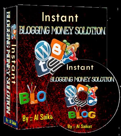 Instant Blogging Money Solution Cover